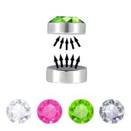 Fake mágneses piercing, kővel